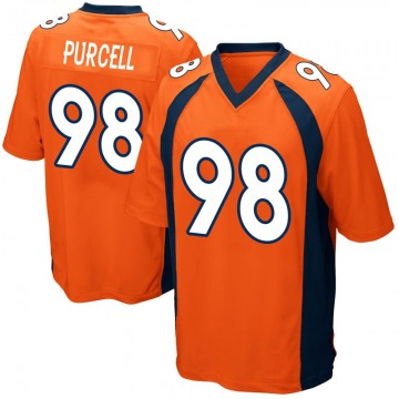 Youth Mike Purcell Denver Broncos Nike Game Team Color Jersey - Orange