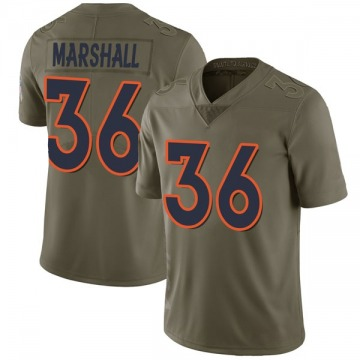 Youth Trey Marshall Denver Broncos Nike Limited 2017 Salute to Service Jersey - Green